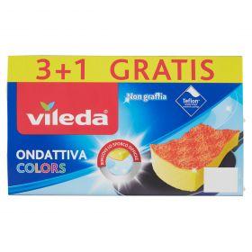 SPUGNA ABRASIVA VILEDA ONDATTIVA COLORS 3+1