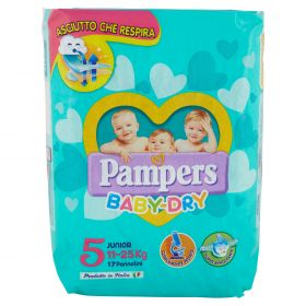 PAMPERS DOWNCOUNT BABY DRY JUNIOR X17