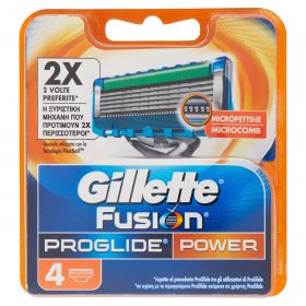 GILLETTE FUSION PROGLIDE LAME POWERX4