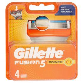GILLETTE FUSION 5 LAME POWER x 4