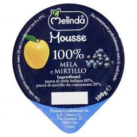 MOUSSE FRUTTA MELINDA MELA/MIRTILLI GR100