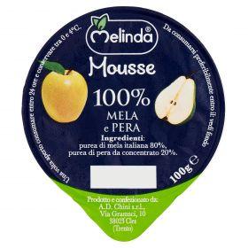 MOUSSE FRUTTA MELINDA MELA/PERA GR100
