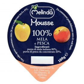 MOUSSE FRUTTA MELINDA MELA/PESCA GR100