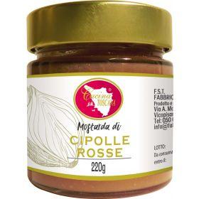 MOSTARDA CIPOLLE ROSSE GR.220 CUCINA TOSCANA