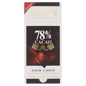 TAVOLETTE LINDT EXEL. NOIR GR100 78%