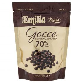 GOCCE CIOCC.FOND.70% EMILA GR180