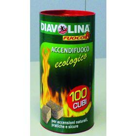 DIAVOLINA ACCENDIF.NAT.TUBO X100