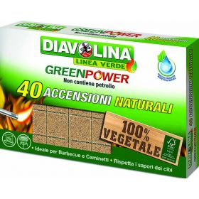 DIAVOLINA GREEN POWER X40 CUBETTI