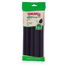 SAMURAI CA.100 CANNUCCE  BIONATURE NERE CM21 X 6MM