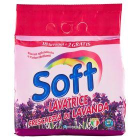 SOFT LAVATRICE POLVERE LAVANDA LAVAGGI 18+2