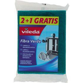 FIBRA VERDE VILEDA 2+1