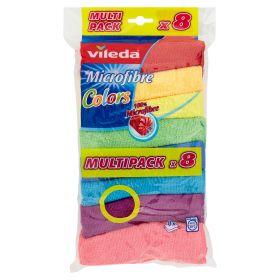 PANNO MICROFIBRA COLORS VILEDA X8