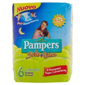 PAMPERS SOLE&LUNA XLARGE X14