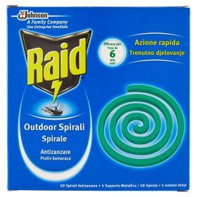 RAID SPIRALI ANTIZANZARE X10PZ