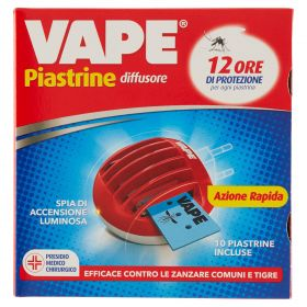 VAPE ELETTROEMANATORE PIASTRINE + 10 PIASTRINE