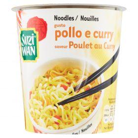 SUZI-WAN NOODLES IN CUP POLLO E CURRY GR62