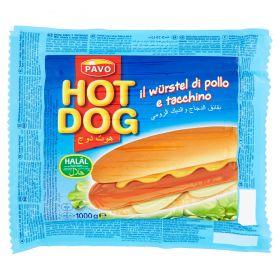 WURSTEL HOT DOG PAVO GR1000